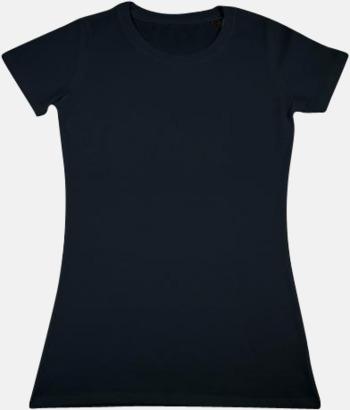Svart Herr- & dam t-shirts i eko bomull med reklamtryck