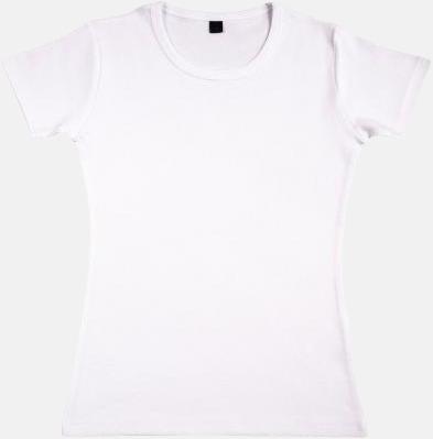Vit Extra mjuka eko t-shirts med reklamtryck