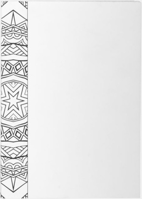 Vit A5-böcker för färgläggning, skisser och anteckningar