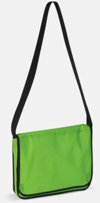 Ljusgrön Messengerbagar i non woven med reklamtryck