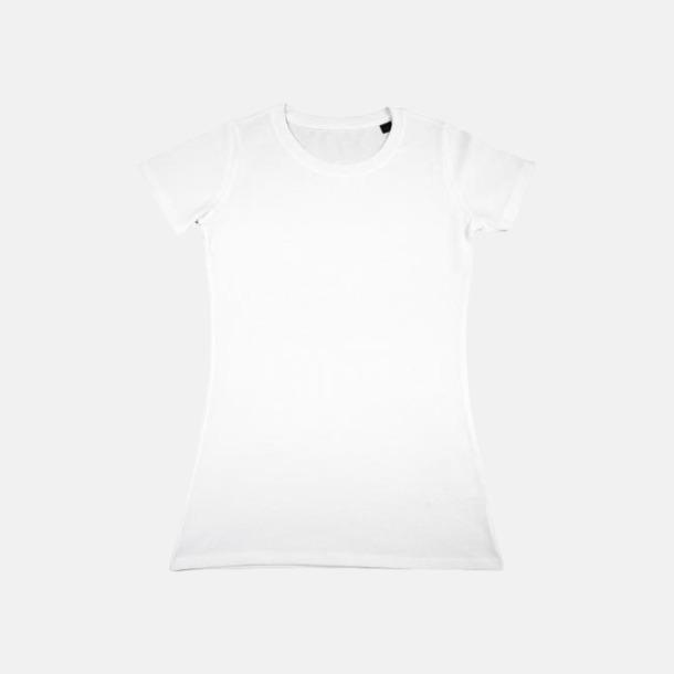 Vit Herr- & dam t-shirts i eko bomull med reklamtryck