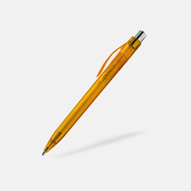 Orange Transparenta pennor med reklamtryck