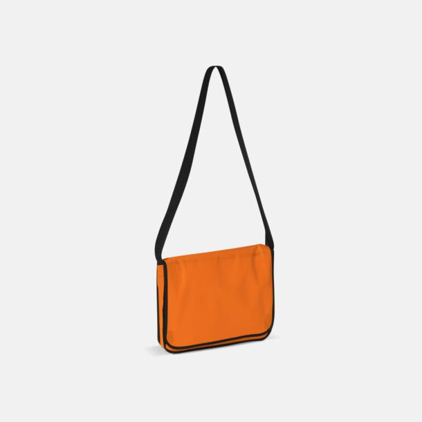 Orange Messengerbagar i non woven med reklamtryck