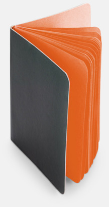 Orange Block med färgade sidor - med reklamtryck