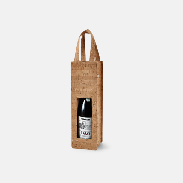 Natur Unika flaskpåsar i kork med reklamtryck