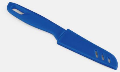 Blå Billig kniv med plastskydd med reklamtryck