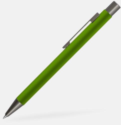 Ljusgrön Mjukare metall-stiftpennor med 360° gravyrlogga