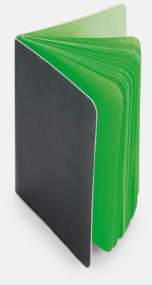 Ljusgrön Block med färgade sidor - med reklamtryck