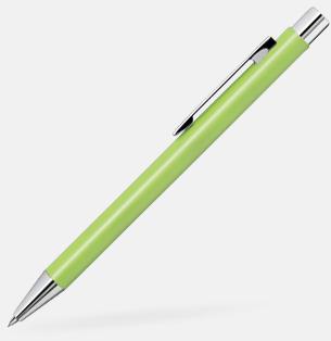 Ljusgrön Färgglada stiftpennor i metall med 360° gravyrlogo