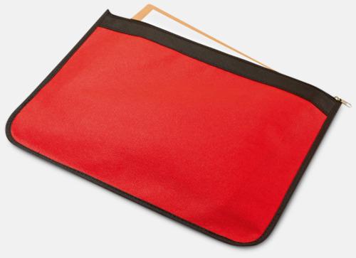 Röd Dokumentfodral med reklamtryck