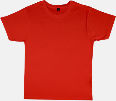 Mörkorange Neutrala herr- & dam t-shirts med reklamtryck