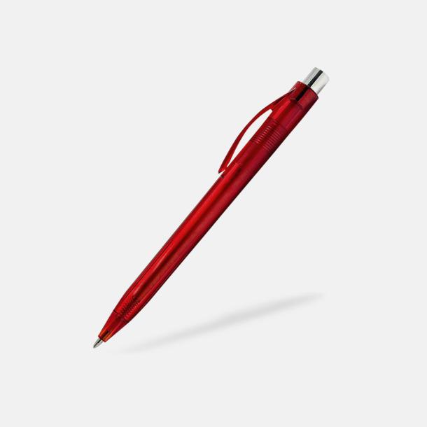 Röd Transparenta pennor med reklamtryck