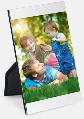 Silver Avlånga fotohållare med reklamlogo