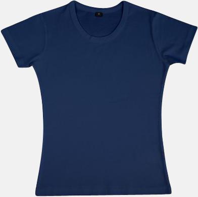 Marinblå Neutrala herr- & dam t-shirts med reklamtryck