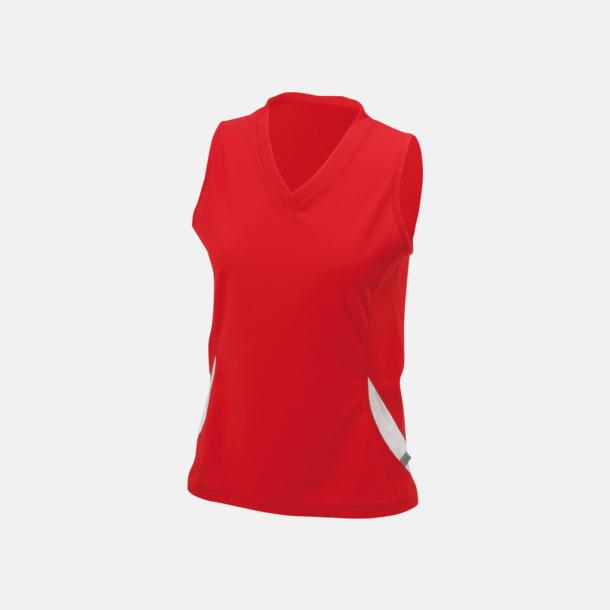 Röd/Vit (dam) Funktionslinnen i herr- och dammodell med reklamtryck