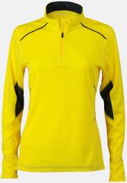 Lemon/Steel Gray (dam) Herr- & damfunktionströjor med reklamtryck