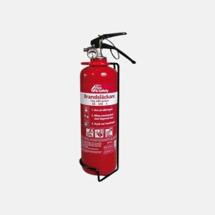 Pulversläckare av små bränder - med reklamtryck
