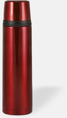 Röd (bright) 50 cl termosflaskor med reklamtryck