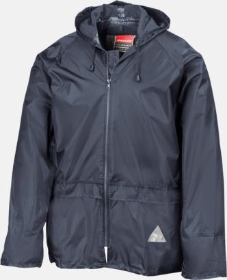 Marinblå jacka (standard) Regnjacka & -byxor för vuxna och barn - med reklamtryck