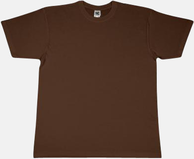 Brun Fina t-shirts i många färger till låga priser med reklamtryck
