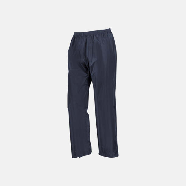 Marinblå byxor (barn) Regnjacka & -byxor för vuxna och barn - med reklamtryck