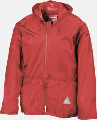 Röd jacka (standard) Regnjacka & -byxor för vuxna och barn - med reklamtryck