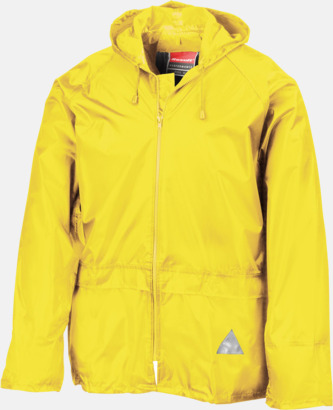 Neongul jacka (standard) Regnjacka & -byxor för vuxna och barn - med reklamtryck