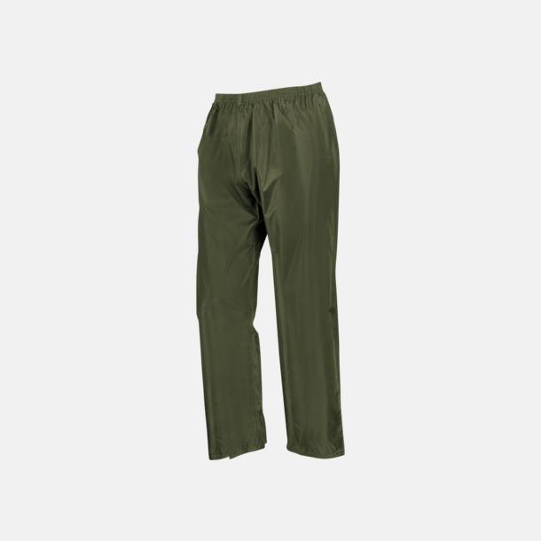 Olivgröna byxor (standard) Regnjacka & -byxor för vuxna och barn - med reklamtryck
