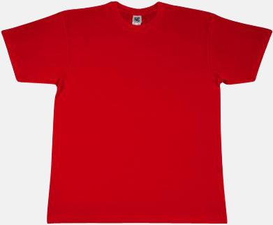 Röd Fina t-shirts i många färger till låga priser med reklamtryck