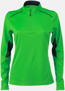 Grön/Steel Gray (dam) Herr- & damfunktionströjor med reklamtryck