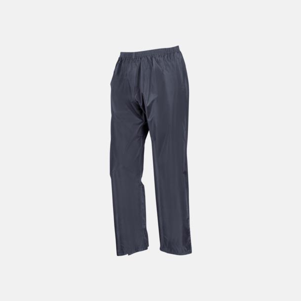 Marinblå byxor (standard) Regnjacka & -byxor för vuxna och barn - med reklamtryck