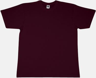 Burgundy Fina t-shirts i många färger till låga priser med reklamtryck
