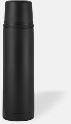 Svart (matt) 50 cl termosflaskor med reklamtryck