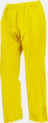 Neongula byxor (standard) Regnjacka & -byxor för vuxna och barn - med reklamtryck