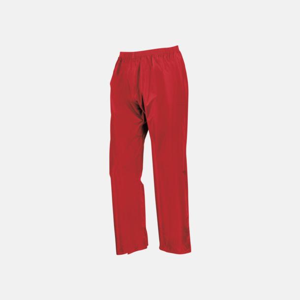 Röda byxor (barn) Regnjacka & -byxor för vuxna och barn - med reklamtryck