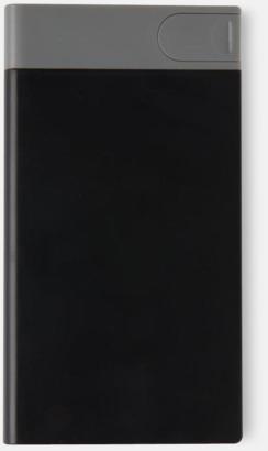 Svart Extraladdare med USB-minne - med reklamtryck