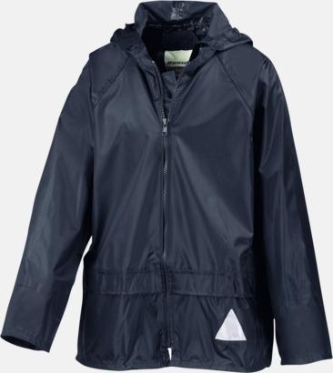 Marinblå jacka (barn) Regnjacka & -byxor för vuxna och barn - med reklamtryck