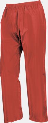 Röda byxor (standard) Regnjacka & -byxor för vuxna och barn - med reklamtryck
