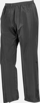 Svarta byxor (standard) Regnjacka & -byxor för vuxna och barn - med reklamtryck