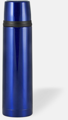 Blå (bright) 50 cl termosflaskor med reklamtryck