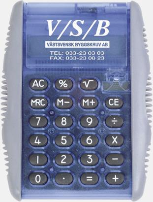 Blå/Frost Miniräknare med reklamtryck