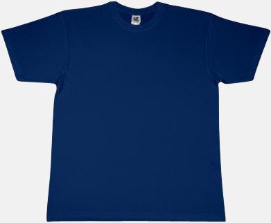 Marinblå Fina t-shirts i många färger till låga priser med reklamtryck