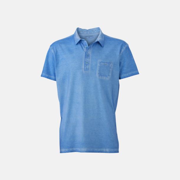 Horizon Blue (herr) Herr- & dampikéer med fickor - med reklamtryck