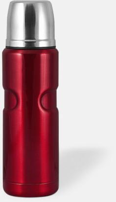 Röd (bright) 50 cl retrotermosar med reklamtryck