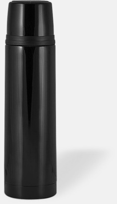 Svart (blank) 50 cl termosflaskor med reklamtryck
