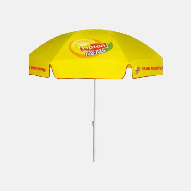Parasoller med reklamtryck över hela parasollet på alla paneler!