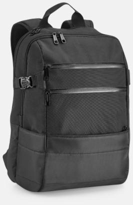 """Svart 15,6"""" laptopryggsäckar med reklamtryck"""