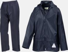 Regnjacka & -byxor för vuxna och barn - med reklamtryck