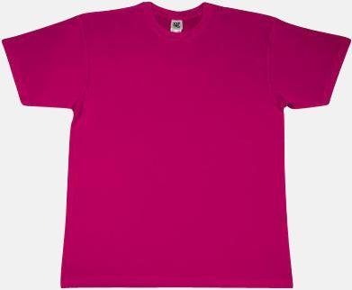 Mörkrosa Fina t-shirts i många färger till låga priser med reklamtryck