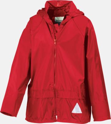 Röd jacka (barn) Regnjacka & -byxor för vuxna och barn - med reklamtryck